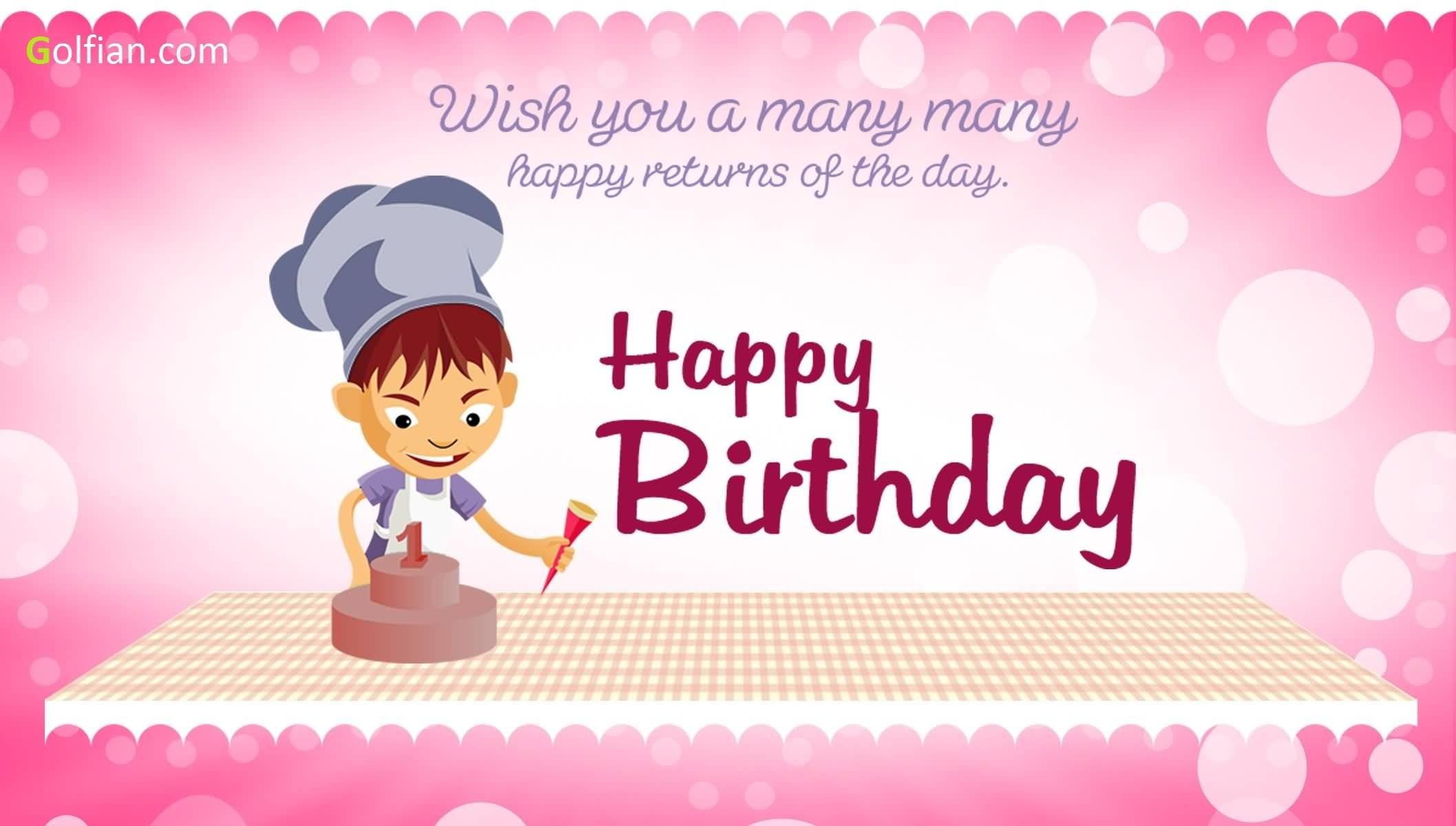 Wish you a many many happy birthday to dear Godchild