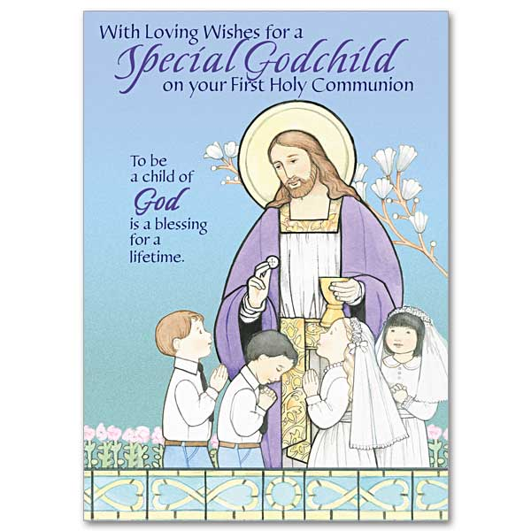 With loving wishes for a special Godchild from god