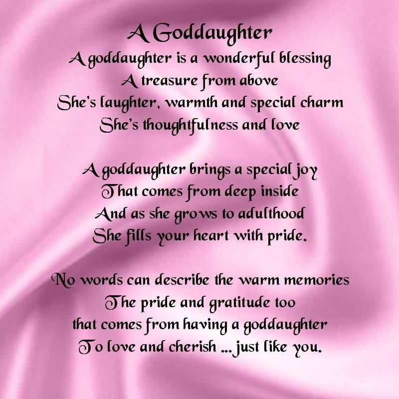 Wonderful blessing for Goddaughter from father