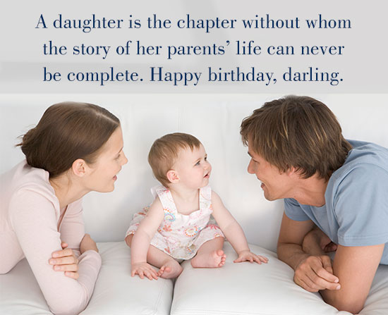 Wonderful happy birthday wish to my little Daughter from parents
