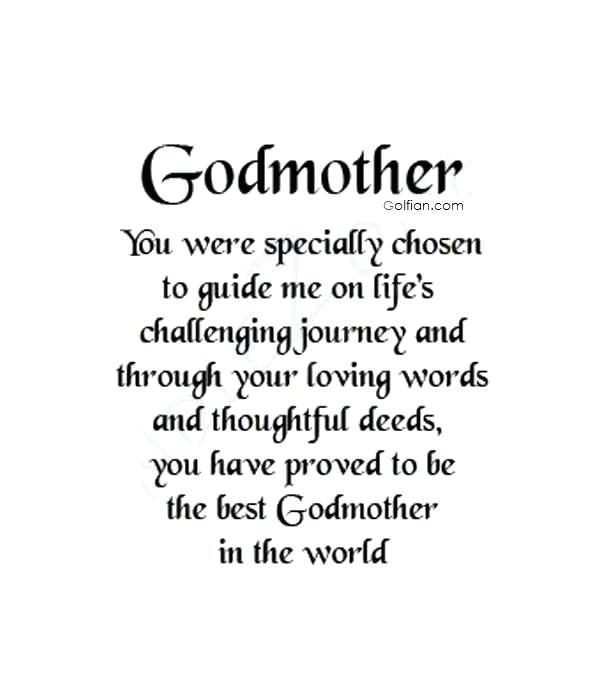 Wonderful quote for best Godmother about birthday wishing image