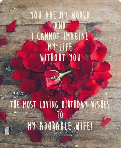 You are my world and I cannot imagine wife birthday wishes with greetings
