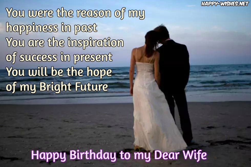 You are the reason of my happiness for wonderful Wife birthday messages wish