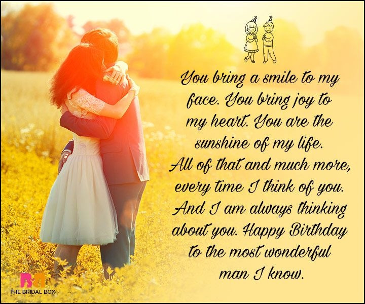 You Bring A Smile To My Face For Amazing Boyfriend Birthday Wishes Blessings