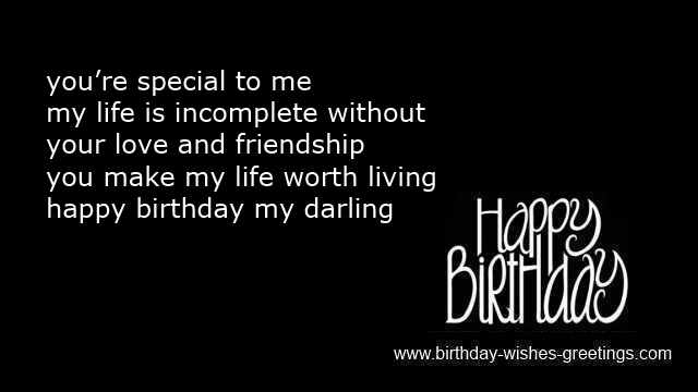 You're special to me my life is incomplete without wife birthday greetings with special wishes from hubby