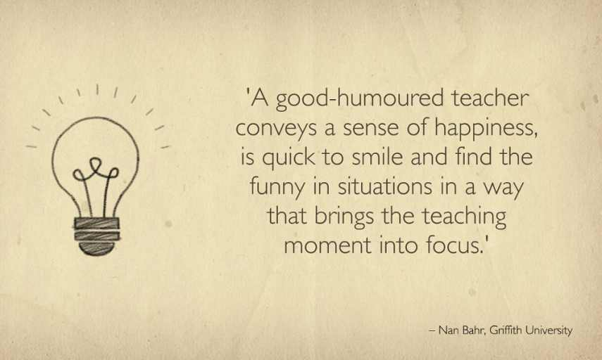 A Good Humored Teacher Conveys Education Quotes