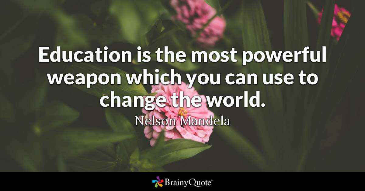 Education Is The Most Powerful Education Quotes