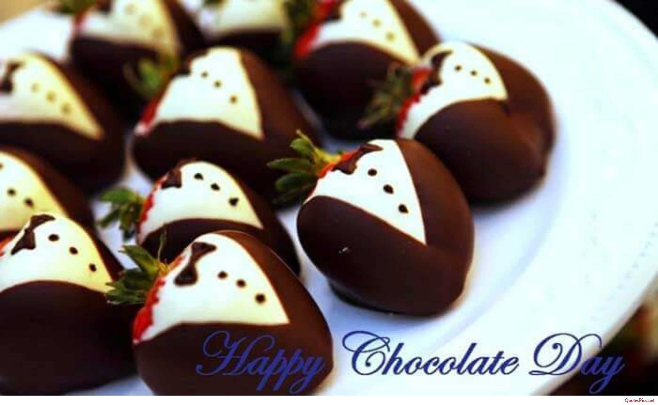Happy Chocolate Day amazing choco wallpaper wish for dear handsome