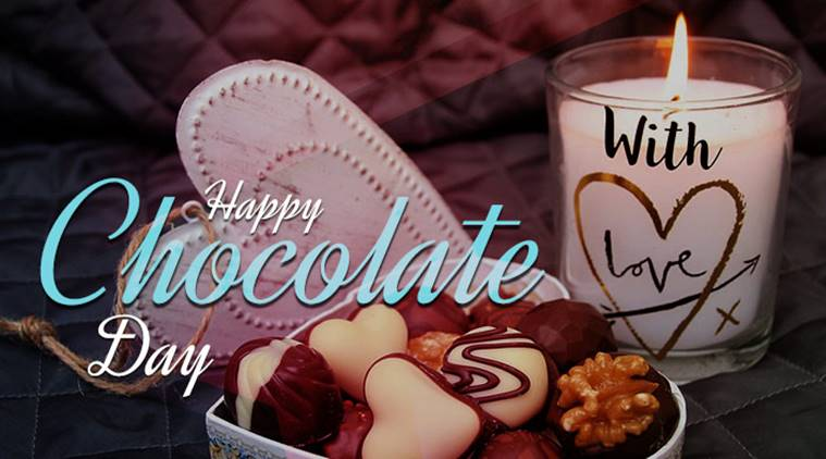 Happy Chocolate Day beautiful image with candle for your dear darling