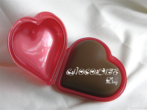 Happy Chocolate Day cute little heart with choco for your wonderful girl