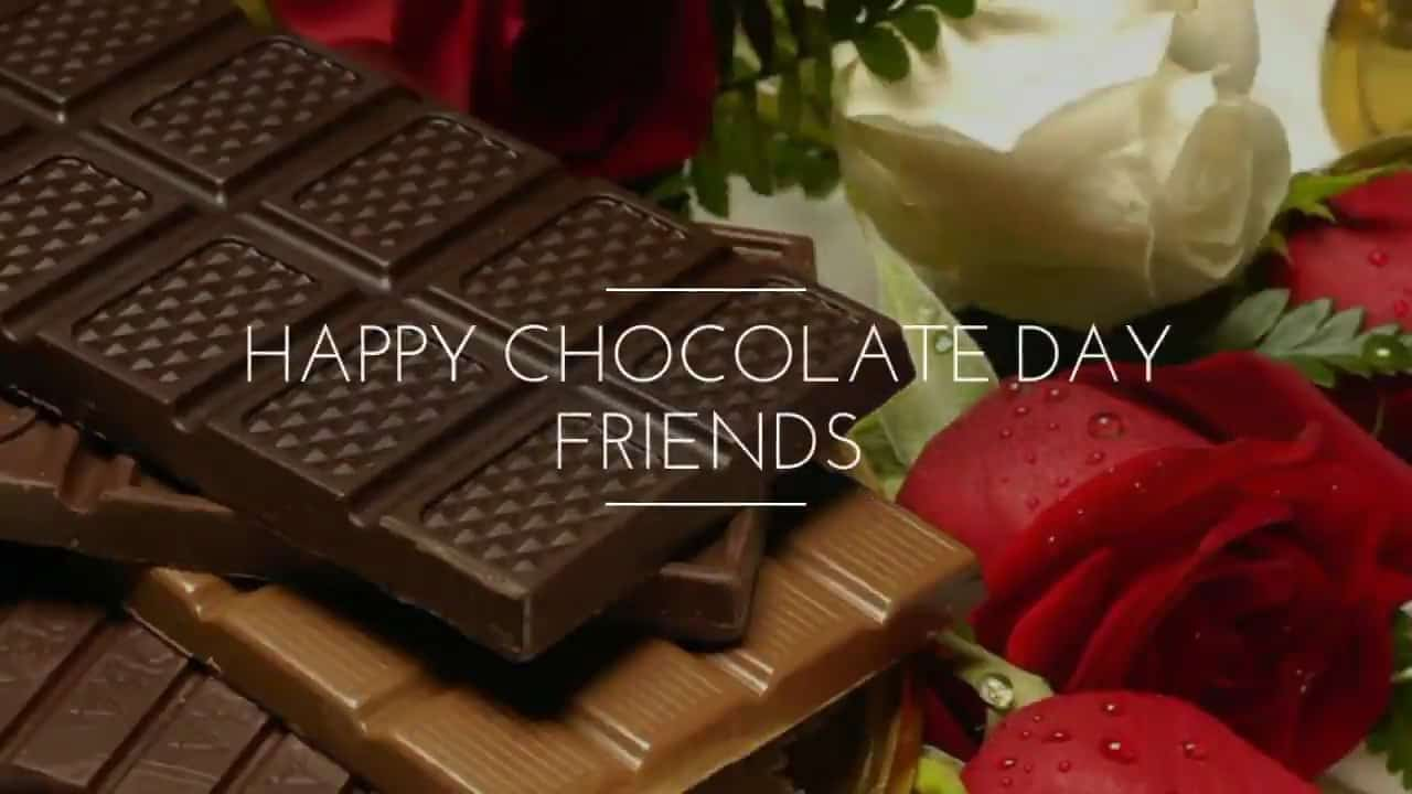 Happy Chocolate Day hd image with beautiful roses for you my friends