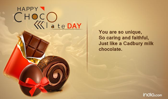 Happy Chocolate Day perfect greetings card for your lovely girl