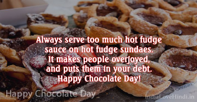 Happy Chocolate Day perfect message on that day for your sweety