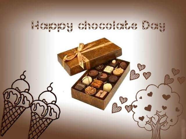 Happy Chocolate Day simple greeting for simple girl like you