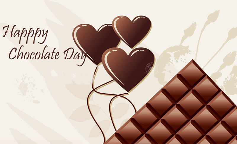 Happy Chocolate Day sweet greeting card for cute girlfriend from boyfriend