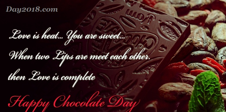 Happy Chocolate Day true lines message for special one