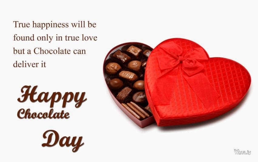 Happy Chocolate Day wonderful quote for lovely wife from husband