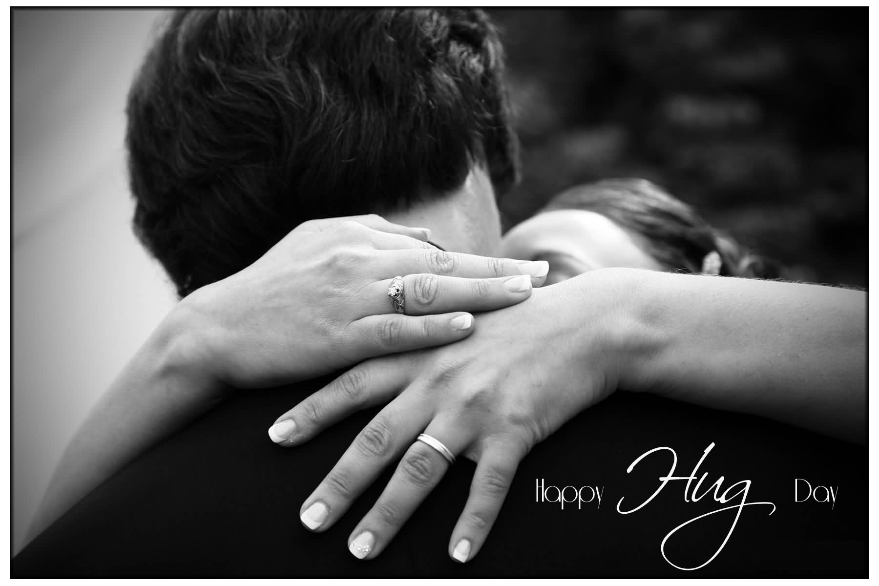 Happy Hug Day attractive wallpaper image for new couple