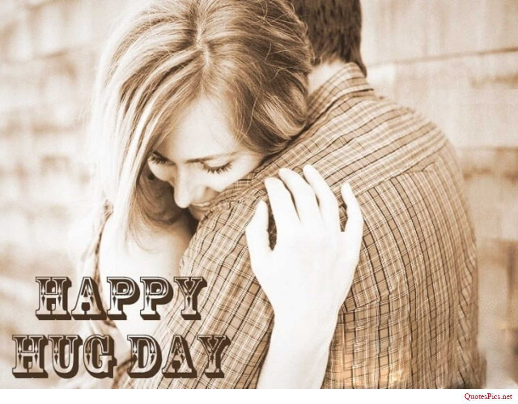 Happy Hug Day awesome wallpaper for lovely couple