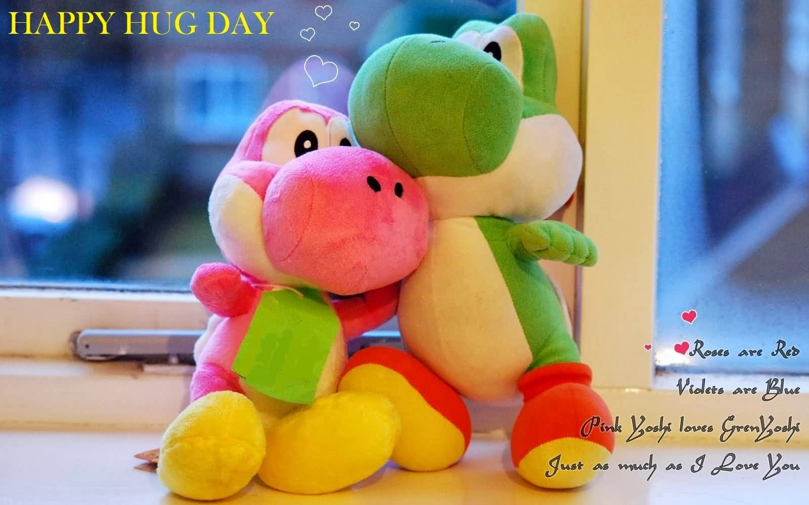 Happy Hug Day cute poem with wallpaper for your love