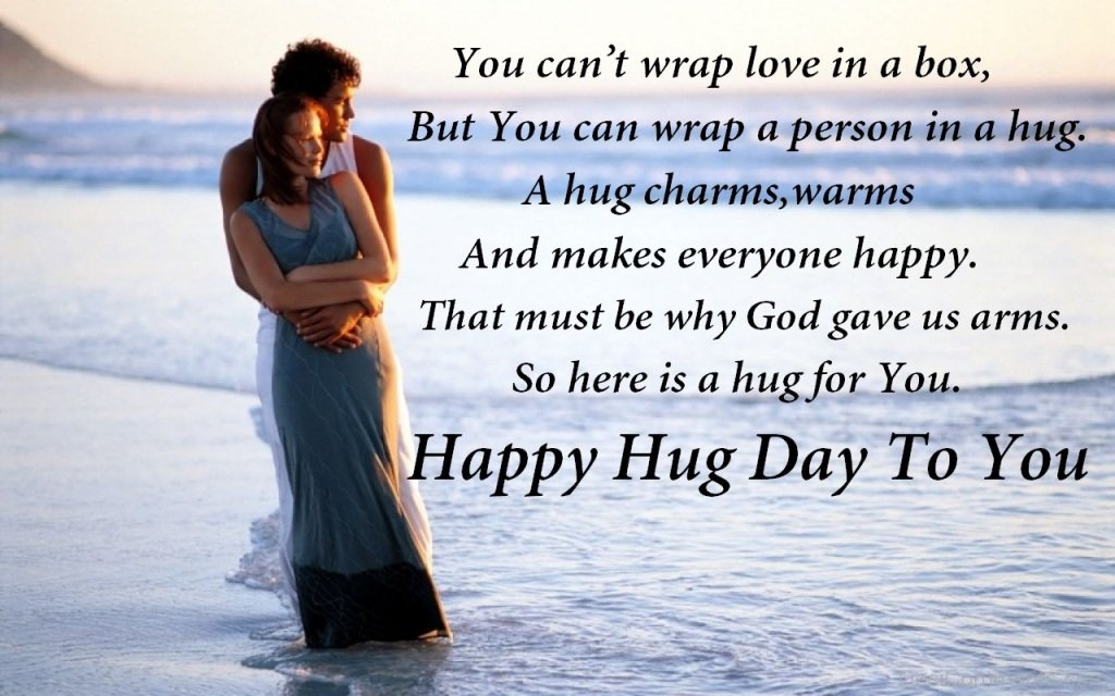 Happy Hug Day for romantic couple messages on this day