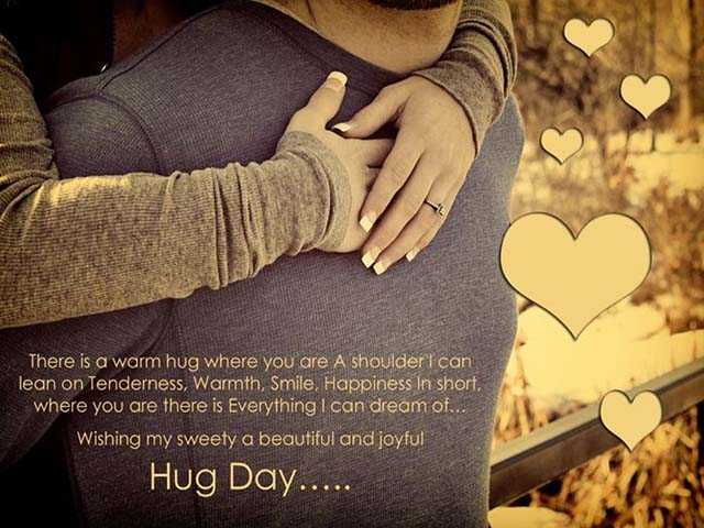 Happy Hug Day latest greetings for your friend or lover