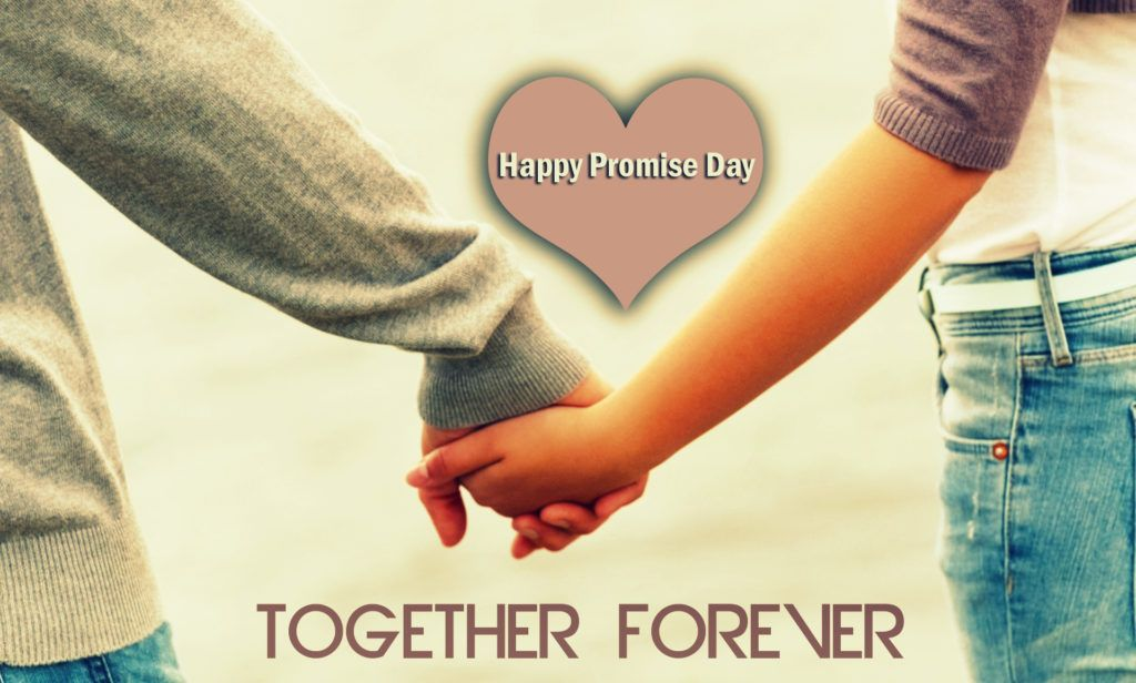 Happy Promise Day Elegant together forever image greetings for dear lover