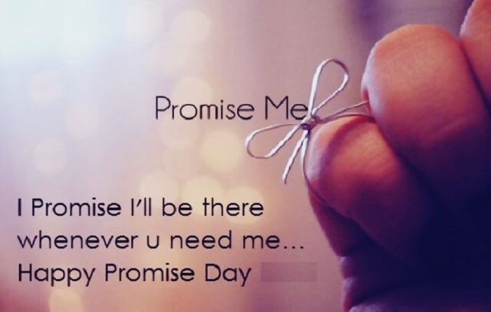 Happy Promise Day I promise I'll be there greetings for amazing lover