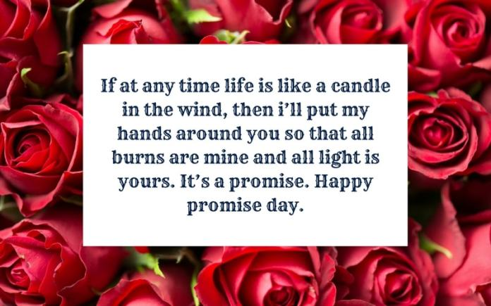 Happy Promise Day If at any time life lovely messages for dear girl from boyfriend