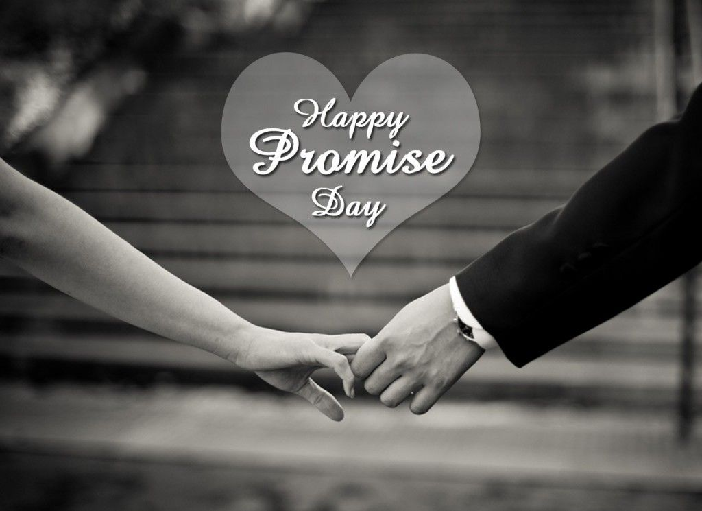 Happy Promise Day amazing black & white image wallpaper for special one