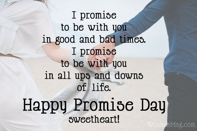 Happy Promise Day amazing messages for your lovely sweetheart