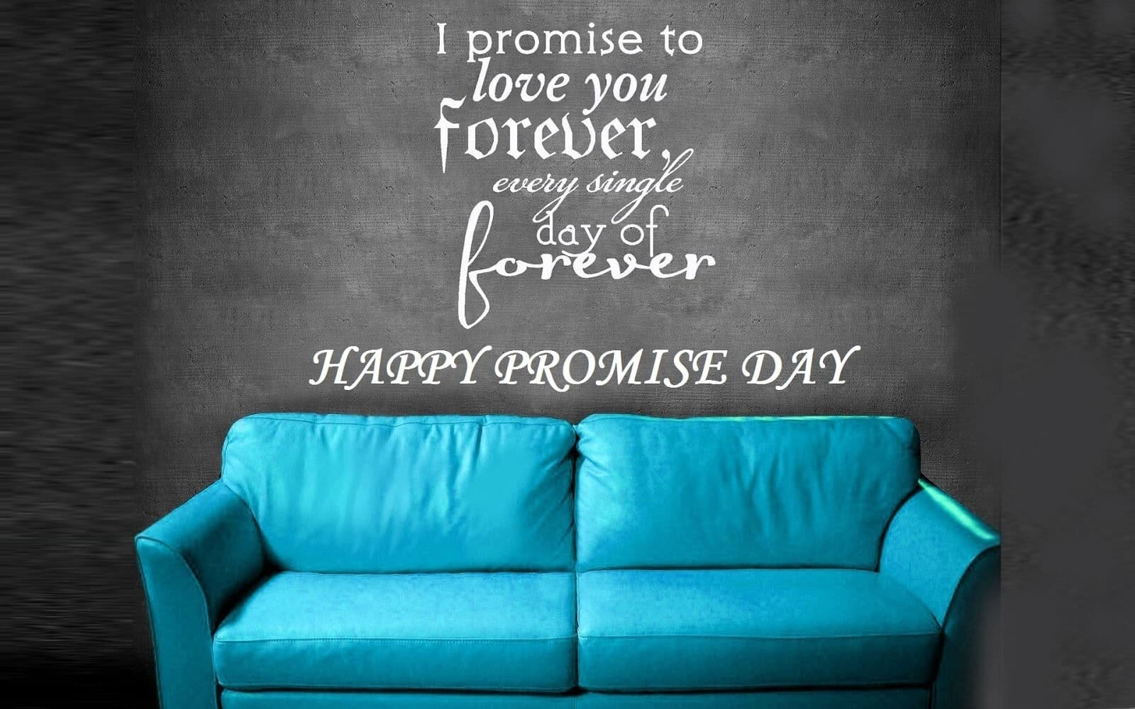 Happy Promise Day fabulous greetings card for lovely darling