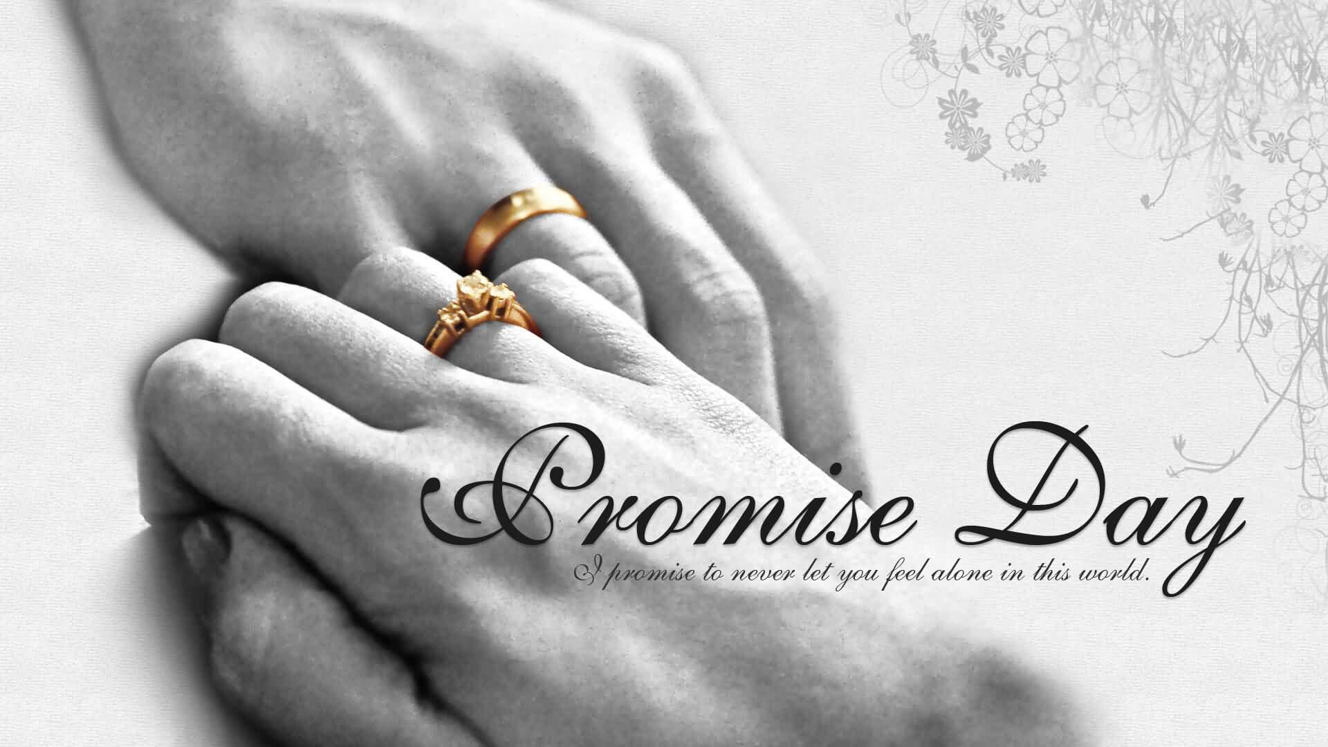 Happy Promise Day forever love with rings greetings and best wish for you