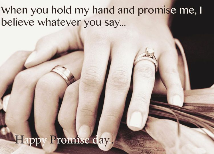 Happy Promise Day when you hold my hand awesome image for you special forever lovers