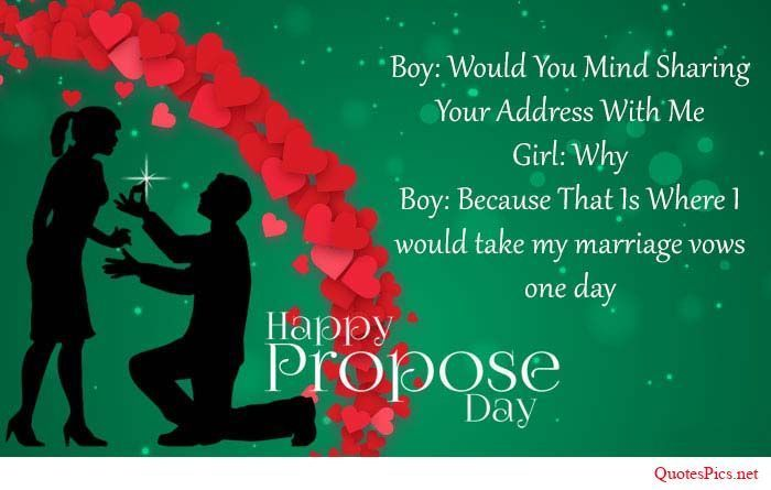 Happy Propose day amazing quote for your dear love