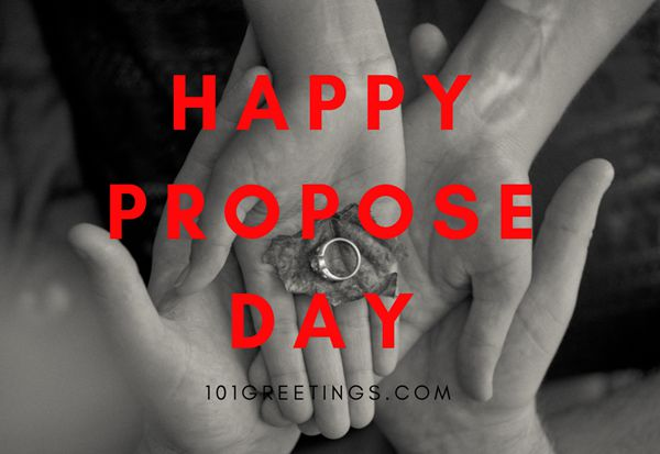 Happy Propose day best greeting with ring for you my love