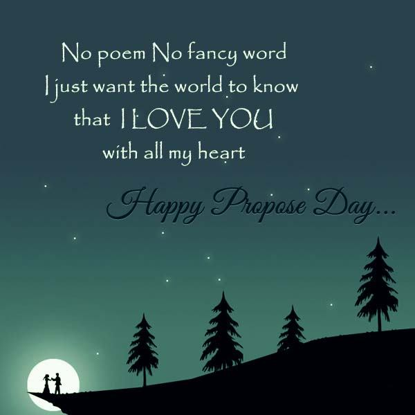 Happy Propose day best message for dear darling from your love