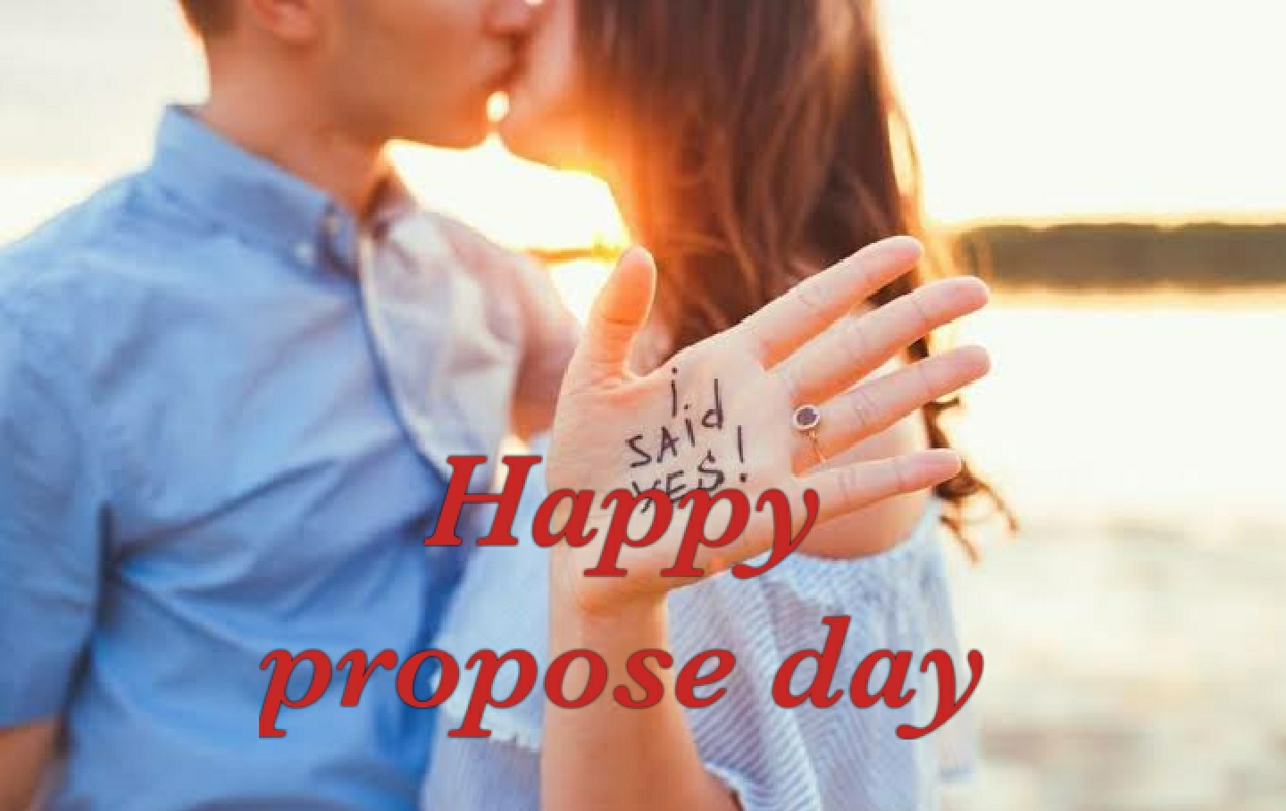 Happy Propose day i said yes best proposal image for you dear boyfriend