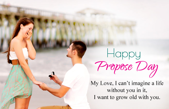 Happy Propose day my love i can't imagine a life great message for your love