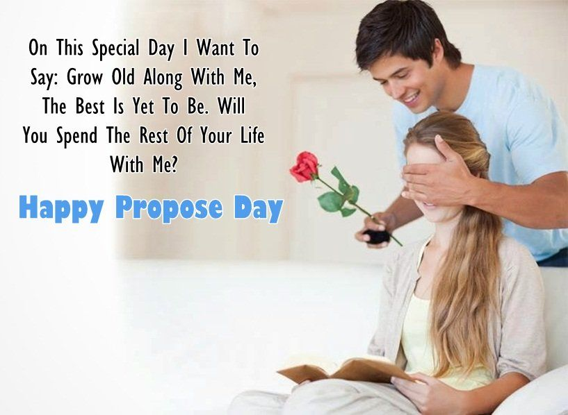 Happy Propose day on this special day wishes image with rose and love for proposing someone