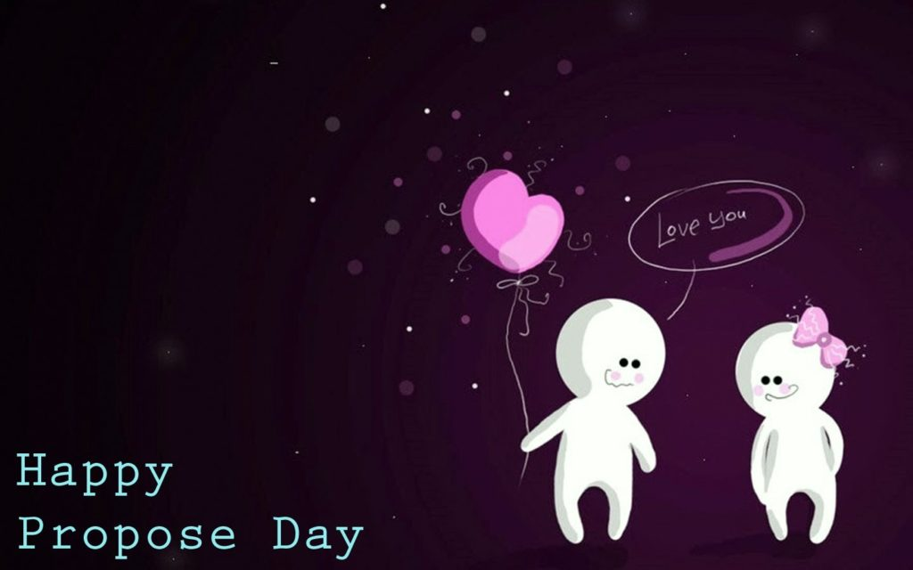 Happy Propose day sweet proposal image to say love you hd wallpaper with greetings