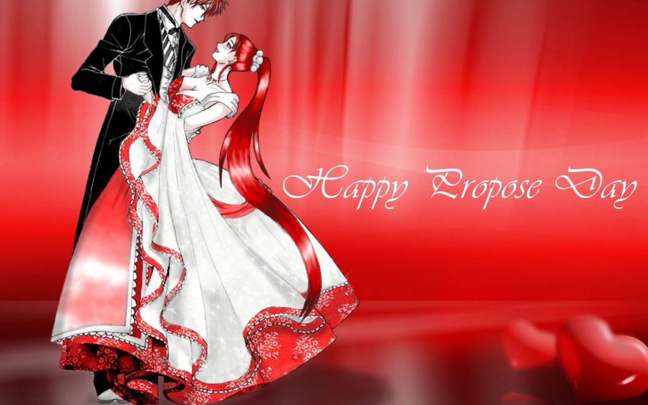 Happy Propose day wonderful wallpaper and wish for you my love