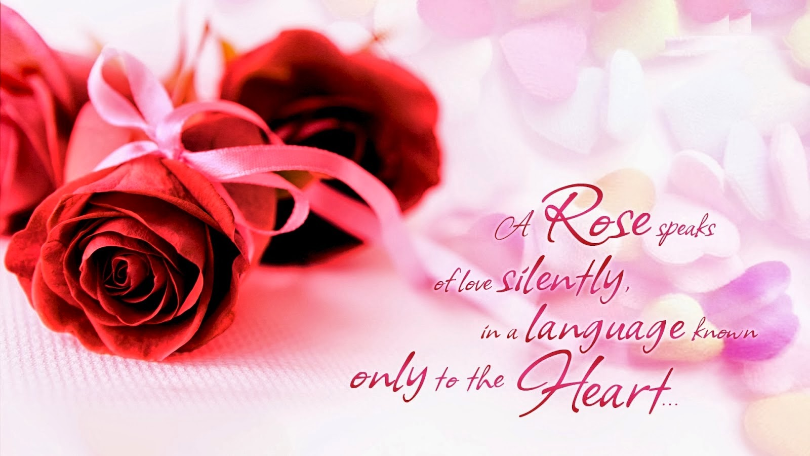 Happy Rose day a rose speaks of love silently messages with love