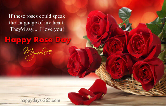 Happy Rose day cute card red roses bucket wish for your best ever love