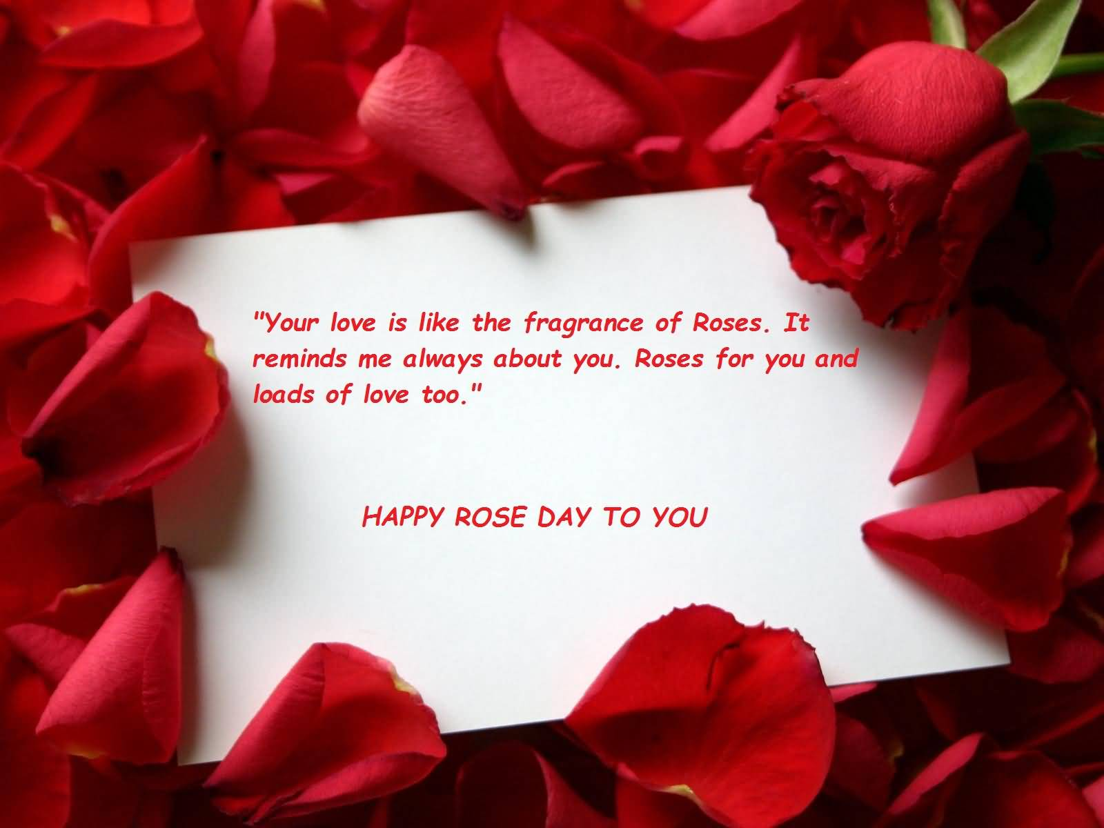 Happy Rose day great messages for you my dear love