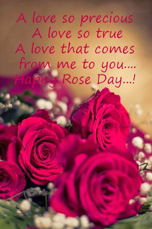 Happy Rose day hd greetings image with wish for your lover