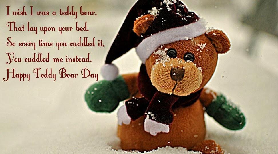 Happy Teddy Day I wish I was a teddy bear wonderful massage wish for dear darling hubby