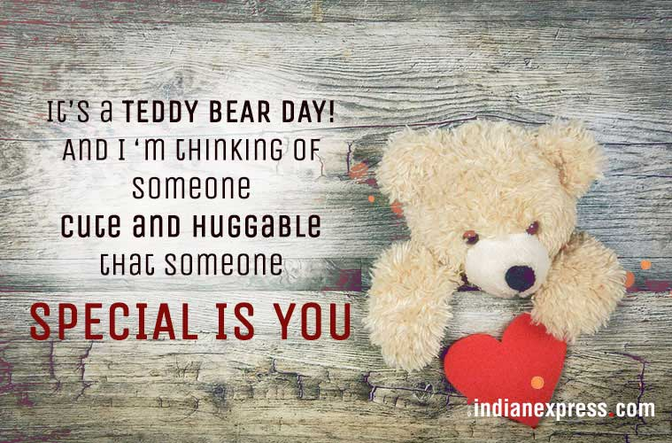 Happy Teddy Day It's teddy bear day someone greeting card for cute darling wife from hubby