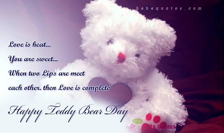 Happy Teddy Day Love is heat amazing poem and messages for your handsome