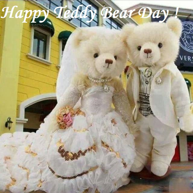 Happy Teddy Day awesome couple teddy bear for perfect one